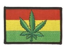Rastafari Leaf Flag Patch