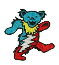 Grateful Dead Dancing Bear with Bolt Patch
