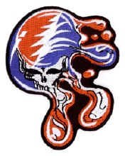 Grateful Dead Melting Steal Your Face Small Patch