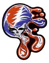 Grateful Dead Melting Steal Your Face Large Patch