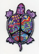 Psychedelic Turtle Peace Patch
