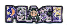 Psychadelic Peace Letters Patch