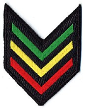 Rastafari Army Stripes Patch