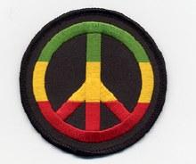 Rastafari Peace Sign Patch