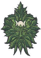 Green Man Patch
