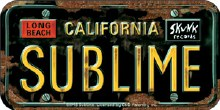 Sublime License Plate Sticker