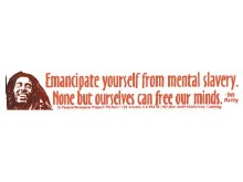 Bob Marley Quote Bumper Sticker