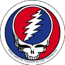 "Grateful Dead Classic Steal Your Face 2"" Sticker"