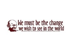 Gandi Be the Change Bumper Sticker