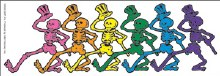 Grateful Dead Dancin Skeletons Window Sticker