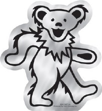 Grateful Dead Dancing Bear Chrome Sticker