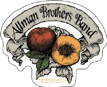 Allman Brothers Band Peach Banner Sticker