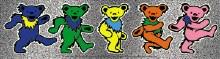 Grateful Dead Dancing Bears Glitter Sticker