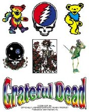 Grateful Dead Assorted Icons Sticker Set