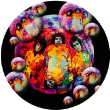 Jimi Hendrix Bubbles Sticker