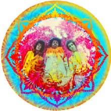 Jimi Hendrix Kaleidoscop Sticker