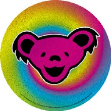 Grateful Dead Bear Glitter Sticker