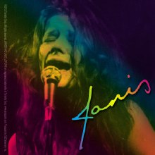 Janis Joplin Singing Sticker