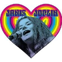 Janis Joplin Heart Sticker