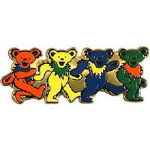 Grateful Dead Dancing Bears Metal Sticker
