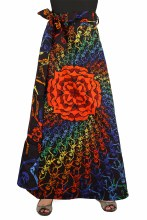 Grateful Dead Skeletons Wrap Skirt