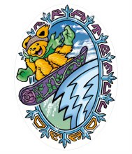 Grateful Dead Dancing Bear Snowboard Sticker