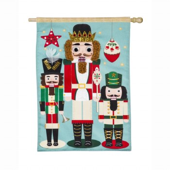 Nutcracker Trio House Linen Flag