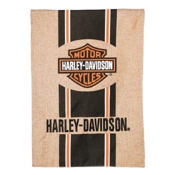 Harley Davidson, Bar and Shield, Burlap Garden Flag