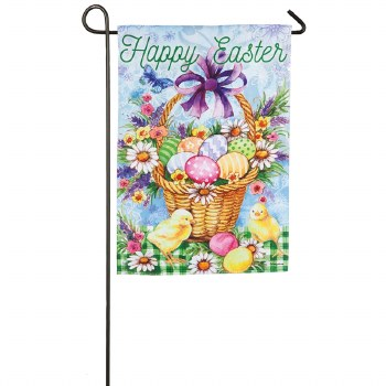 Easter Egg Basket Garden Suede Flag