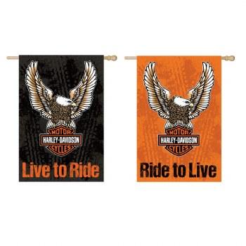Flag, Suede, Gar, DS, Eagle, Harley Davidson