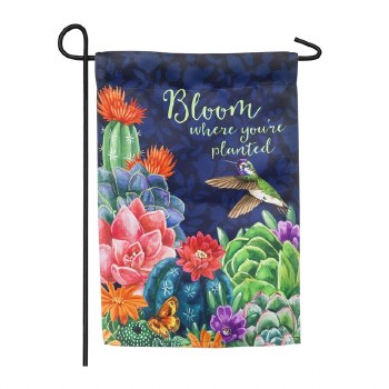 Bloom Where You're Planted Garden Suede Flag