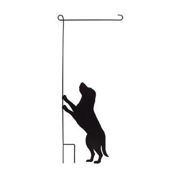 Dog Garden Flag Stand