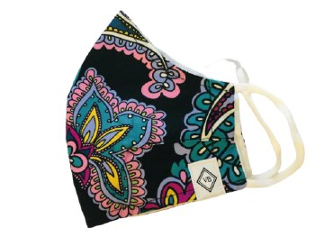 Vera Bradley Cotton Face Mask Black and Hue