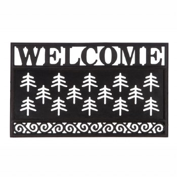 Welcome Scroll Coir Switch Mat Tray 18x30