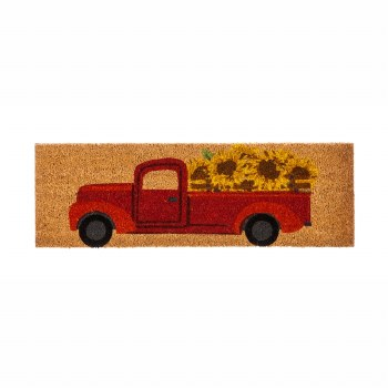 Red Truck with Sunflowers Coir Switch Mat