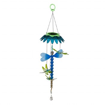 Light Chasing Color Changing Solar Mobile, Dragonfly