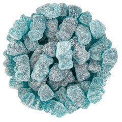 Sour Blastin Blue Raspberry Flavored Gummy Bears