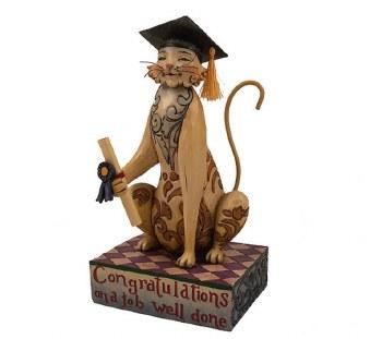 Jim Shore Grad Cat