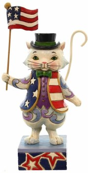 Jim Shore Patriotic Cat