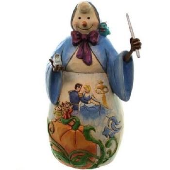 Jim Shore Disney Traditions Snowman With Cinderella Scene
