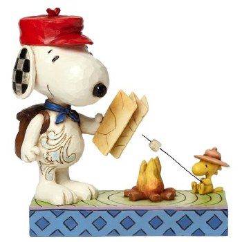 Jim Shore Snoopy and Woodstock by Campfire Figurine
