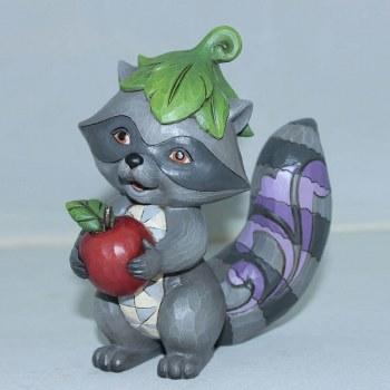 Jim Shore Raccoon With Apple