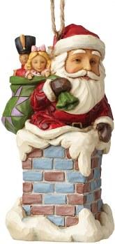 Jim Shore Santa In Chimine