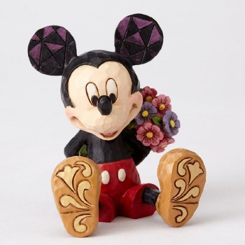 Jim Shore Mini Mickey with flowers
