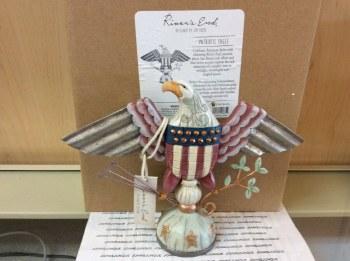Jim Shore Rve Birdhouse Patriotic Fla