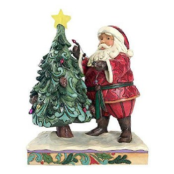 Jim Shore Santa Decorating Tree Figurine