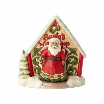 Jim Shore Heartwood Creek Santa and Toy Shop Mini Figurine Set