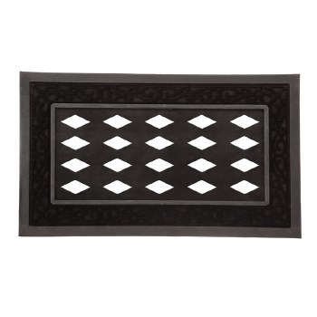 Black Scroll Sassafras Mat Tray 18x30