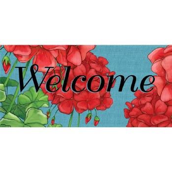 Geranium Welcome Sassafras Switch Mat