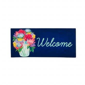 Floral Mason Jar Welcome Sassafras Switch Mat